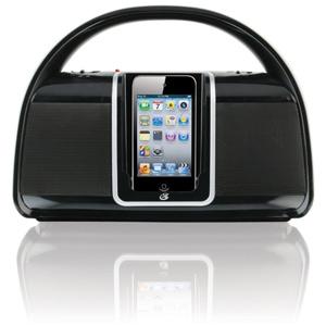 GPX BI100B Radio and Portable iPod Dock