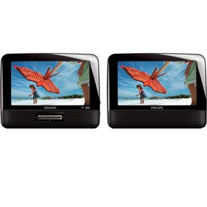 Philips PD7012 Car DVD Player - 16:9 - 0.3 W RMS - DVD Video, Video CD, SVCDHeadrest-mountable