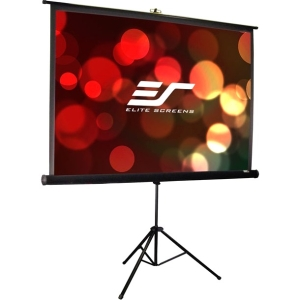 "Elite Screens Tripod T85UWS1-PRO Protable Projection Screen - 50"" x 50"" - MaxWhite - 85"" Diagonal - 1:1 - Portable"