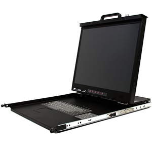 StarTech.com 1U 20 High Resolution Folding Rackmount LCD Console for 19in Rack - 1 Computer(s) - 20.1 Active Matrix TFT LCD - 1 x DB-15 Video