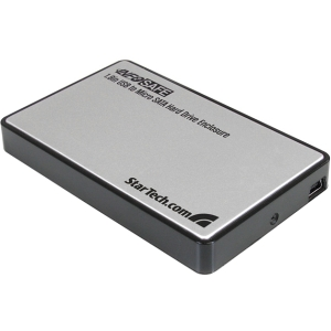 StarTech.com 1.8in USB to Micro SATA Hard Drive Enclosure - 1 x 1.8 - Internal - Micro SATA