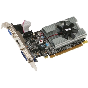 MSI N210-MD1G/D3 GeForce 210 Graphic Card - 589 MHz Core - 1 GB GDDR3 SDRAM - PCI Express 2.0 x16 - Low-profile - 1000 MHz Memory Clock - 2560 x 1600 - DirectX 10.1, OpenGL 3.1 - HDMI - DVI - VGA