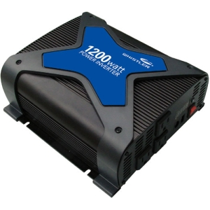 Whistler PRO-1200W DC-to-AC Power Inverter - Input Voltage: 12 V DC - Output Voltage: 5 V DC, 110 V AC - Continuous Power: 1.20 kW