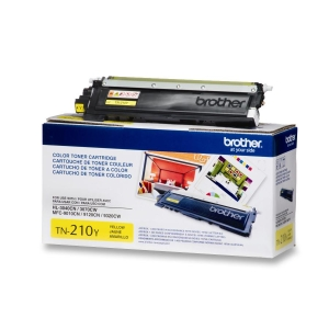 Brother TN210Y Toner Cartridge - Yellow - Laser - 1400 Page - 1 Each - OEM