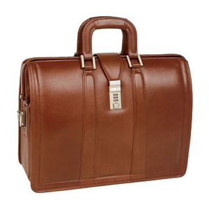 "McKleinUSA Morgan V Series 83344 Litigator Laptop Brief - Briefcase - Shoulder Strap, Hand Strap17"" Screen Support - 13.75"" x 18"" x 7"" - Leather - Brown"