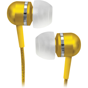Coby Jammerz Platinum CVEM79BLU Earphone - Stereo - Blue - Mini-phone - Wired - Gold Plated - Earbud - Binaural - Open