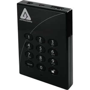Apricorn Aegis Padlock Pro A25-PLE256-S128 128 GB External Solid State Drive - USB 2.0, eSATA - Hot Swappable