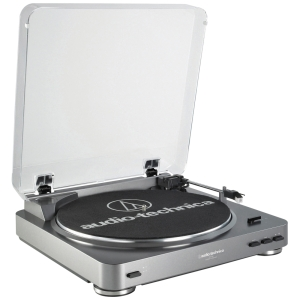 Audio-Technica AT-LP60-USB LP-to-Digital Record/CD Turntable - Belt Drive - Automatic - 33.33, 45 rpm - CD-R