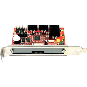 Addonics HPM-XA System Version 5 Port SATA RAID Controller - Serial ATA/300 - PCI - Plug-in Card - RAID Supported - 0, 1, 3, 5, 10, JBOD RAID Level