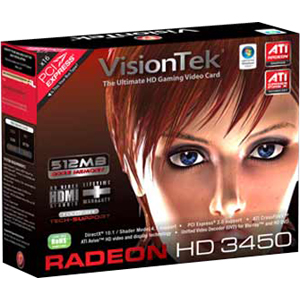 Visiontek 900302 Radeon 3450 Graphic Card - 512 MB - PCI - DVI - VGA