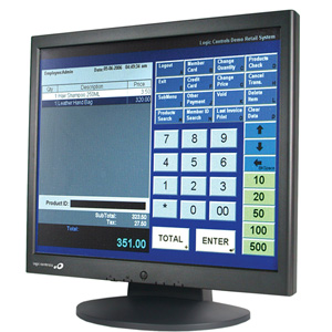 "Logic Controls LE1017 17"" LCD Touchscreen Monitor - 8 ms - 5-wire Resistive - 1280 x 1024 - 500:1 - 300 Nit - Speakers - USB - Black"