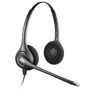 Plantronics SupraPlus HW261N Headset - Stereo - Wired - Over-the-head - Binaural - Semi-open - 3.94 ft Cable