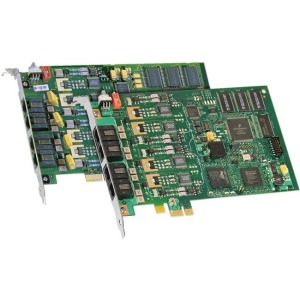Dialogic D4PCIUFW Combined Media Board - 4 - PCI - PCI Half-length
