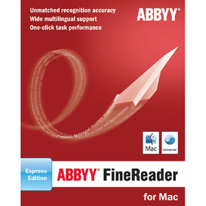ABBYY FineReader v.8.0 Express - OCR Utility - Mac, Intel-based Mac