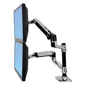 "Ergotron 45-248-026 Mounting Arm for Flat Panel Display - 24"" Screen Support - 40.00 lb Load Capacity - Aluminum"