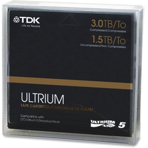 TDK Life on Record 61857 LTO Ultrium 5 Data Cartridge - LTO Ultrium - LTO-5 - 1.50 TB (Native) / 3 TB (Compressed)