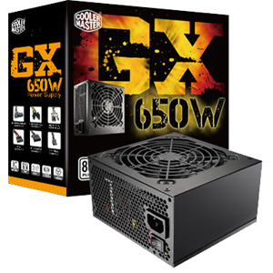 Cooler Master GX RS650-ACAAE3-US ATX12V &amp; EPS12V Power Supply - 85% Efficiency - 650 W - Internal - 110 V AC, 220 V AC