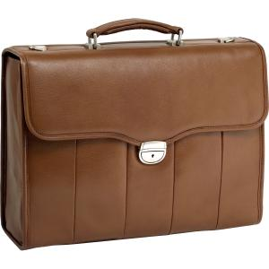 "McKleinUSA North Park I Series 46554 Executive Briefcase - Briefcase - Shoulder Strap, Hand Strap15.4"" Screen Support - 12.5"" x 17"" x 5"" - Leather - Brown"