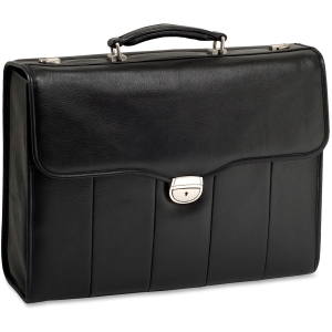 "McKleinUSA North Park I Series 46555 Executive Briefcase - Briefcase - Shoulder Strap, Hand Strap15.4"" Screen Support - 12.5"" x 17"" x 5"" - Leather - Black"