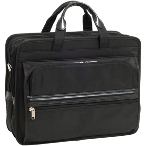McKleinUSA Elston P Series 56485 Double Compartment Laptop Case - Shoulder Strap , Hand Strap - 17&quot; Screen Support - Nylon - Black
