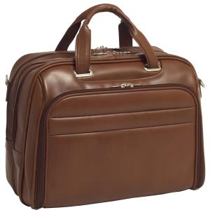 "McKleinUSA Springfield R Series 86594 Laptop Case - Shoulder Strap, Hand Strap17"" Screen Support - 13"" x 17"" x 7.25"" - Leather - Brown"