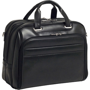 "McKleinUSA Springfield R Series 86595 Laptop Case - Shoulder Strap, Hand Strap17"" Screen Support - 13"" x 17"" x 7.25"" - Leather - Black"