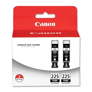 Canon PGI-225 Ink Cartridge - Black - Inkjet - 2 / Pack