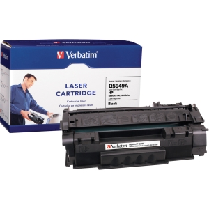 Verbatim HP Q5949A Compatible Toner Cartridge (1160, 1320) - Black - Laser - 2500 Page - 1 / Pack