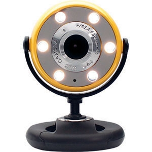 Gear Head WC1400YLW Webcam - 1.3 Megapixel - Yellow, Black - USB 2.0 - 800 x 600 Video
