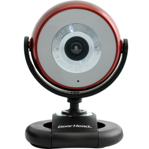 Gear Head Quick WCF2750HDRED-CP10 Webcam - Red - USB - 5 Megapixel Interpolated - Widescreen - Microphone