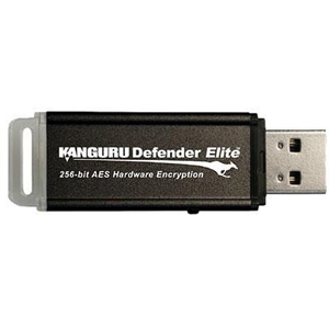 Kanguru 16GB Defender Elite USB 2.0 Flash Drive - 16 GB - USB - External
