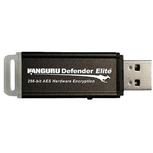 Kanguru 64GB Defender Elite USB 2.0 Flash Drive - 64 GB - USB - External