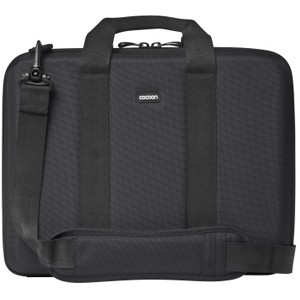 "Cocoon Murray Hill CLB353 Carrying Case for 13"" Notebook - Black, Yellow - Shock Absorbing, Water Resistant - Ethylene Vinyl Acetate (EVA), Ballistic Nylon"
