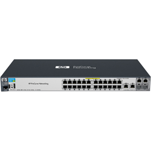 HP ProCurve 2520-24-PoE Ethernet Switch - 2 x SFP (mini-GBIC) - 2 x 10/100/1000Base-T, 24 x 10/100Base-TX