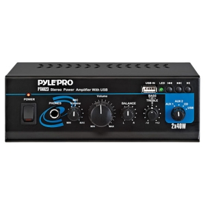 Pyle PTAU23 Amplifier - 40 W RMS - USB