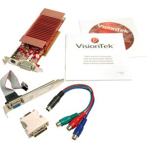 Visiontek 900321 Radeon 3450 Graphic Card - 512 MB DDR2 SDRAM - PCI - DirectX 10.1, OpenGL 2.0 - DVI - VGA