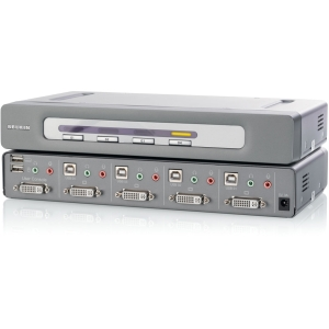 Belkin OmniView F1DN104D KVM Switch - 4 Computer(s) - 6 x USB - 5 x DVI - Rack-mountable