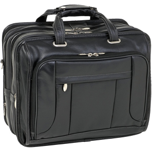 McKlein USA West Town 15705 Black Fly-Through Checkpoint-Friendly 17 Detachable-Wheeled Laptop Case