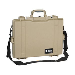 Pelican 1495 Carrying Case for 17&quot; Notebook - Desert Tan - Stainless Steel, Copolymer Polypropylene