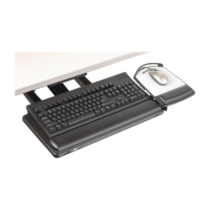 "3M Sit/Stand Adjustable Keyboard Tray - 26.5"" Width x 10.6"" Depth - Black"
