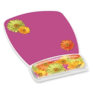 "3M Gel Mouse Pads With Wrist Rest - 9.2"" x 6.8"""