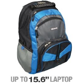 Microsoft 39313 Contender Backpack Laptop Bag Blue