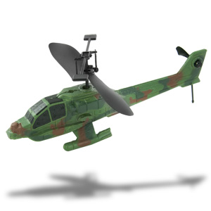 Cobra RC Mini Combat Apache Helicopter with Light,  2 Channel  (Colors May Vary)