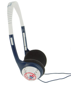 New York Yankees Team Logo Baseball Headphones