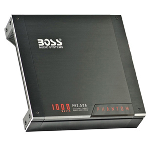 Boss PHANTOM PH2.500 Car Amplifier - 1000 W PMPO - 2 Channel - 105 dB SNR - 0% THD - 2 x 200 W @ 4 Ohm - 2 x 500 W @ 2 Ohm
