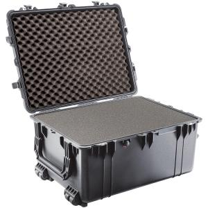 "Pelican 1630 Shipping Box with Foam - Internal Dimensions: 20.98"" Width x 15.50"" Depth x 27.70"" Length - External Dimensions: 24.2"" Width x 17.5"" Depth x 31.3"" Length - Polyurethane - Black"