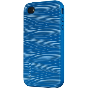 Belkin Grip Ergo F8Z624TT Carrying Case for iPhone - Vivid Blue - Thermoplastic Polyurethane (TPU)