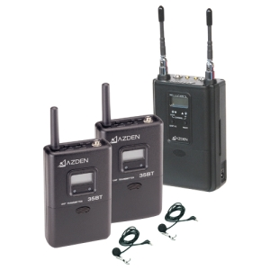 Image of Azden 330LT UHF On-Camera Dual Bodypack Wireless Microphone System