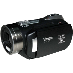"Vivitar DVR 650 Digital Camcorder - 1.8"" LCD - CMOS - Black - AVI - 4x Digital Zoom - 128 MB Flash Memory - Microphone, Speaker - USB - Secure Digital (SD) Card - Flash Memory, Memory Card"