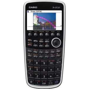 "Casio PRIZM FX-CG10 Graphing Calculator 8 Line(s) - 21 Character(s) - LCD - Battery Powered - 7.42"" x 3.52"" x 0.81"""